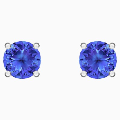 attract-stud-pierced-earrings--blue--rhodium-plated-swarovski-5512385