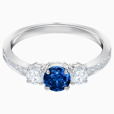 attract-trilogy-round-ring--blue--rhodium-plated-swarovski-5448831