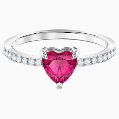 one-heart-ring--red--rhodium-plated-swarovski-5474941